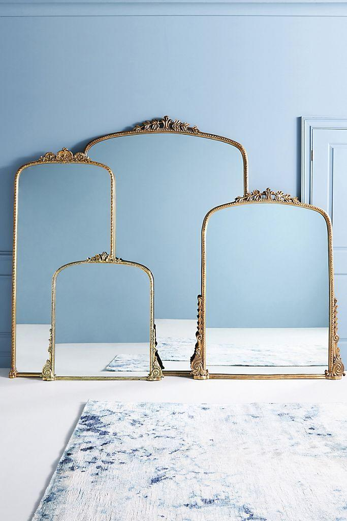 """If you follow any L.A.-based content creators, chances are they have this framed mirror in their house. The ornate Parisian-inspired frame instantly elevates any space, and there are three different colors to choose from so you can perfectly match your existing decor. $1548, Anthropologie. <a href=""""https://www.anthropologie.com/shop/gleaming-primrose-mirror2?color=020&type=STANDARD&quantity=1&size=7%27%20Large"""" rel=""""nofollow noopener"""" target=""""_blank"""" data-ylk=""""slk:Get it now!"""" class=""""link rapid-noclick-resp"""">Get it now!</a>"""