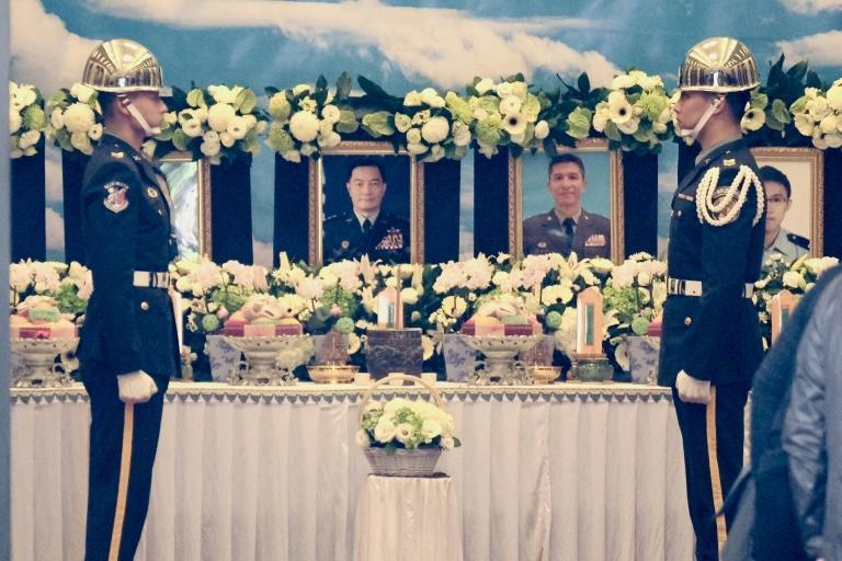 Taiwan is mourning the death of its military chief and other senior officers in a helicopter crash