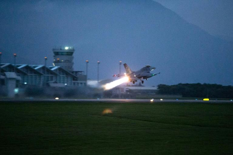 Taiwan has had to repeatedly scramble its jets to ward off Chinese planes during the outbreak (AFP Photo/Handout)