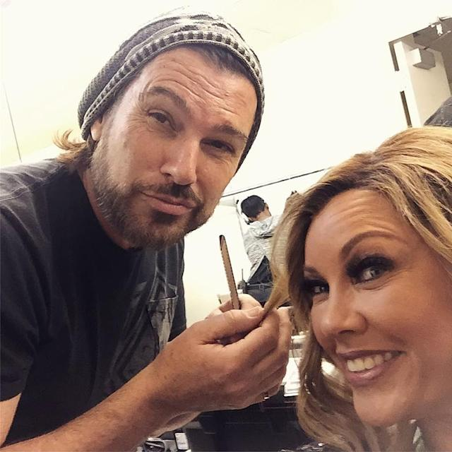 <p>The man behind the blonde! Glam time with the head of our very important hair department, @shawnfinchhair #DaytimeDivas </p>