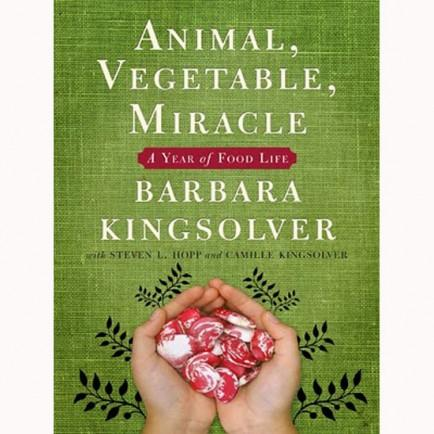 "<div class=""caption-credit""> Photo by: Amazon</div><div class=""caption-title""></div><b><i>Animal, Vegetable, Miracle: A Year Of Food Life</i> - by Barbara Kingsolver</b> <br> A gifted storyteller and fiction writer, Barbara Kingsolver takes the reader on her own family's personal journey to eat locally sourced food, or food her family grew themselves, for a year. The book includes detailed information on what fruits and vegetables come into season at which time, and she weaves in information about modern day industrial agriculture and how we might do better. I loved the family's philosophy that transformed how they looked at food. With resourcefulness, teamwork, and some newly acquired farm and gardening knowledge that has been lost on most modern day families, they learned to either grow it, source it, or go without. <br> <i>Buy it on <a rel=""nofollow"" href=""http://www.amazon.com/Animal-Vegetable-Miracle-Year-Food/dp/0060852569/ref=sr_1_1?ie=UTF8&qid=1378686552&sr=8-1&keywords=animal+vegetable+miracle"" target=""_blank"">Amazon</a>, $10.96</i> <br>"