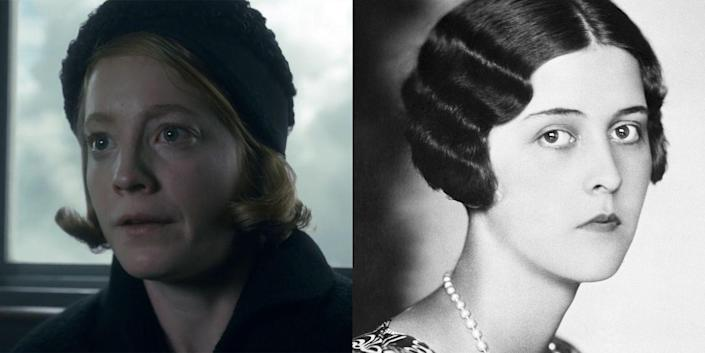 """<p>German actress Leonie Beseech played Prince Philip's older sister Princess Cecilie of Greece and Denmark. As shown in """"Paterfamilias"""" (season 2, episode 9), Cecilie, her husband, their two sons, and her mother-in-law were killed in a plane crash in 1937 when the group set off from Germany to attend a family wedding in London. Cecilie was eight months pregnant at the time of the crash.</p>"""