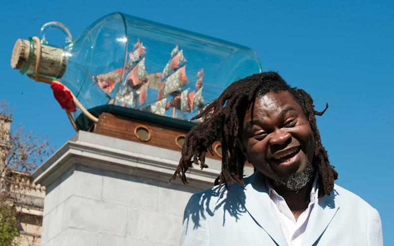 The unveiling of Yinka Shonibare's 'Nelson's - Ship in a Bottle' in May 2010 - Credit: Geoff Pugh for The Telegraph