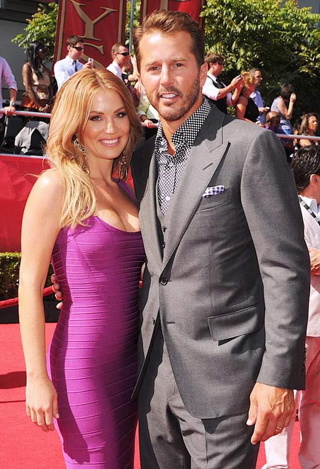 LOS ANGELES, CA - JULY 11:  Former NHL player Mike Modano and Amanda Lee Modano arrive at the 2012 ESPY Awards at Nokia Theatre L.A. Live on July 11, 2012 in Los Angeles, California.  (Photo by Steve Granitz/WireImage)