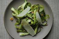"""<div class=""""caption-credit""""> Photo by: Sarah Shatz</div><div class=""""caption-title"""">Shaved Asparagus and Mint Salad</div>The bright woodsy flavor of asparagus is sometimes lost once it's cooked -- this salad preserves that flavor and the long ribbons give each bite a wholesome crunch. - Amanda & Merrill <br> <i><b><a rel=""""nofollow noopener"""" href=""""http://food52.com/recipes/11674_shaved_asparagus_and_mint_salad"""" target=""""_blank"""" data-ylk=""""slk:Get the recipe"""" class=""""link rapid-noclick-resp"""">Get the recipe</a></b>.</i>"""