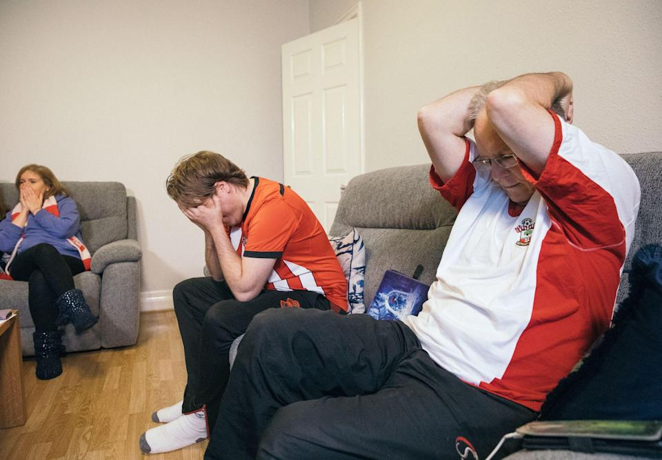 The Hiley family are distraught as Southampton miss a series of chances in a defeat to Manchester City