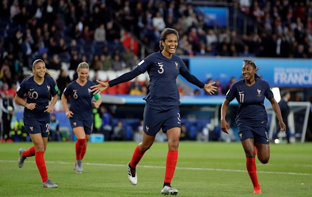 Wendie Renard (3) scored twice to lead France past South Korea in a Women's World Cup opener that was convincing in more ways than one. (Associated Press)