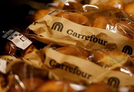 FILE PHOTO: Bread products on the shelves inside the Carrefour hypermarket at the Two Rivers Shopping Mall in Nairobi