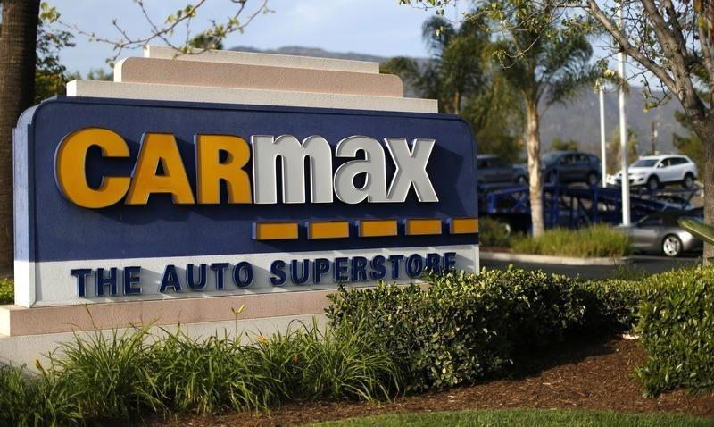 The sign of a CarMax dealership is pictured in Duarte