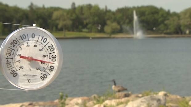 Preliminary data from Environment and Climate change Canada indicates 20 heat records were broken in Saskatchewan on Monday. (Rob Kruk/CBC - image credit)