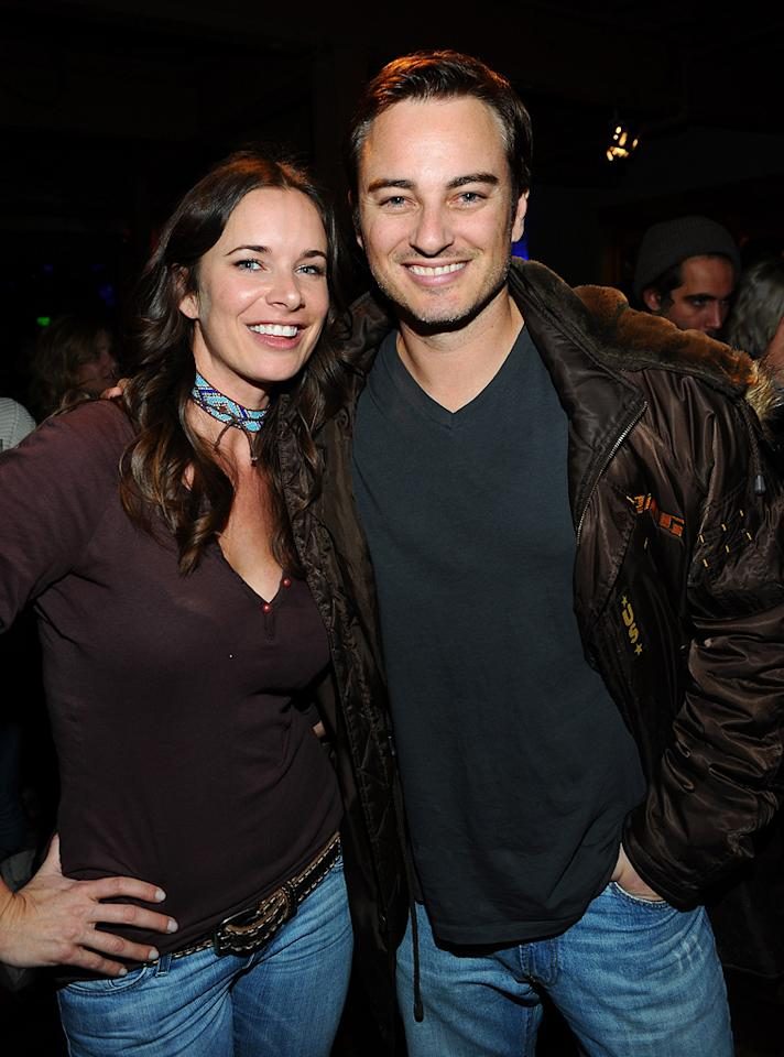 Anastasia Roark and Kerr Smith are seen out and about during the 2012 Sundance Film Festival in Park City, Utah on January 22, 2012.