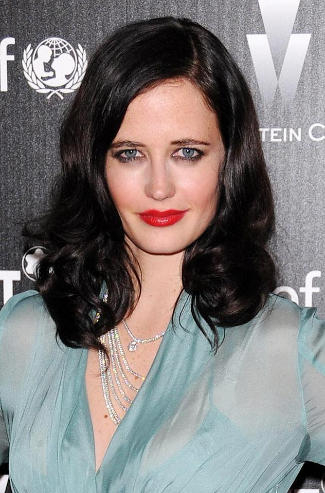 "Eva Green, known for her role as Bond girl Vesper Lynd in ""Casino Royale,"" admits her tresses were originally dark blonde. ""I dyed my hair blue then black when I was 14,"" she told the British paper <i>Metro</i>. ""I thought the color was more flattering and matched my skin tone. I don't think I'd ever change back unless it was for a film."" Jean Baptiste Lacroix/<a href=""http://www.wireimage.com"" target=""new"">WireImage.com</a> - March 6, 2010"