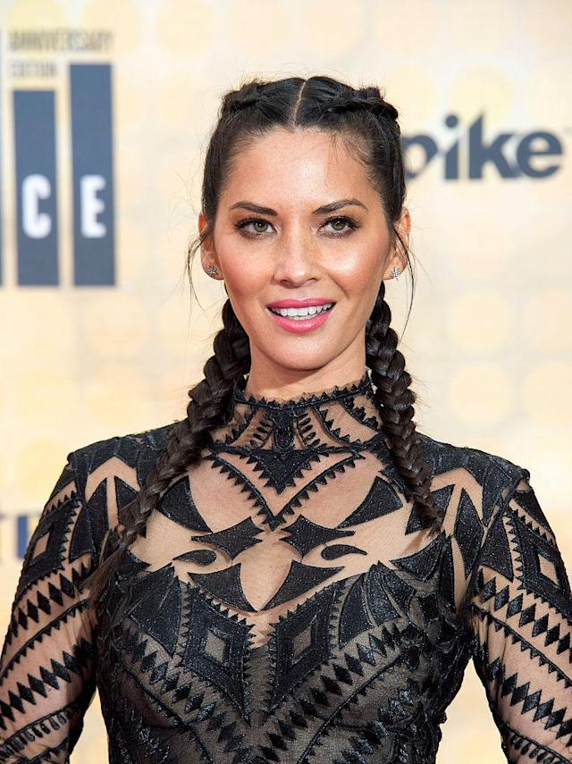 <p>Olivia Munn attends The Spike TV Guys Choice at the Sony Pictures Studios, in Culver City, Calif., on June 4, 2016. (Photo: Valerie Macon/AFP/Getty Images) </p>