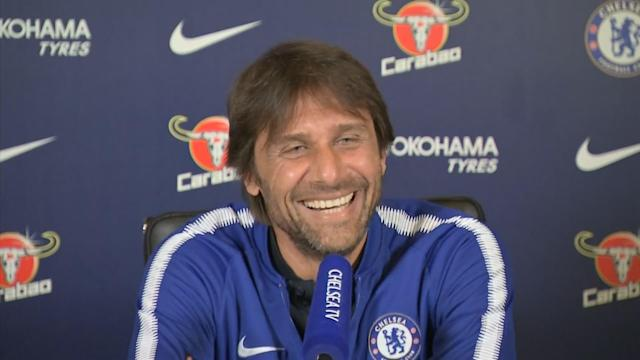 "Chelsea manager Antonio Conte hasn't had too much to smile about at Stamford Bridge in recent weeks with the club fighting to land a Champions League spot this season. The ongoing speculation over his future in west London and talk of who is likely to succeed him is unlikely to have helped his mood either. But for a brief moment during his press conference this afternoon, the Italian couldn't keep the smile off his face. Conte was speaking to reporters ahead of tomorrow night's Premier League clash with Burnley when his phone began to ring in his pocket. Looking at the screen, he admitted the caller was his wife and apologised for the interruption. Antonio Conte said he should be fined for his phone going off in the press conference Credit: PA ""It was my wife. Always in the worst moment. I'm sorry,"" he said. ""You can give me a fine! I'm sorry because I would be annoyed if it happened to one of you."" Chelsea face an uphill task to qualify for next season's Champions League as they trail fourth-placed Tottenham Hotspur by eight points, even if Mauricio Pochettino's side have played a game more. Conte accepts the odds are stacked against his team but has urged his players to fight for a top-four spot until it's mathematically impossible. Who is your Premier League manager of the year? Our writers have their say ""We have to try until the end to reach this target,"" the Italian manager added. ""If we want to be realistic with five games to go, it's not simple to reduce the gap, but we must have the will to fight, the desire to take this target. Why not? ""We have an important game against Burnley, a really strong team having a fantastic season, and it won't be easy to get three points."""