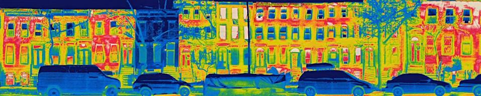 """<span class=""""caption"""">Thermal image of New York City's first passive house on a -10 C degree night. </span> <span class=""""attribution""""><span class=""""source"""">(Shutterstock)</span></span>"""