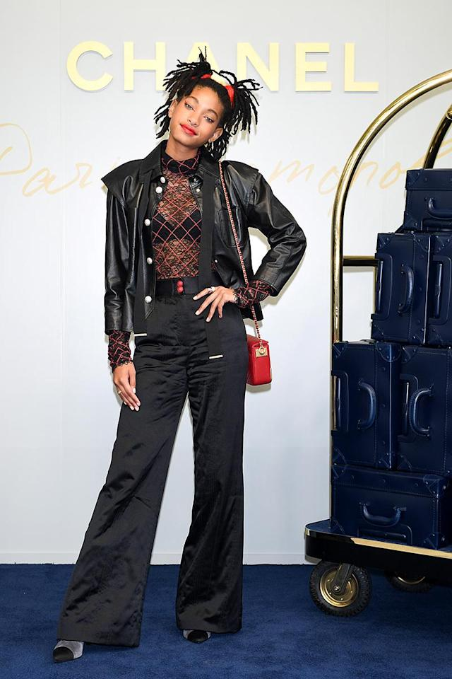 <p>The 16-year-old Chanel ambassador rocked a stylish ensemble at the brand's Metiers D'art Collection Paris Cosmopolite show in Tokyo. Her homework had to wait for another time. (Photo: Atsushi Tomura/Getty Images for Chanel) </p>