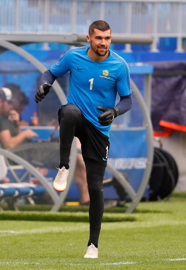 Soccer Football - World Cup - Australia Training - Samara Arena, Samara, Russia - June 20, 2018 Australia's Mathew Ryan during training REUTERS/David Gray
