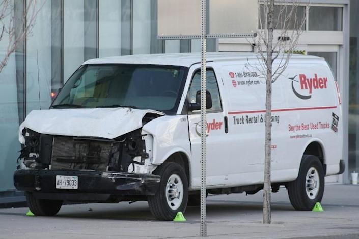 A Canadian man who ploughed this rented van into pedestrians in Toronto in 2018 ago goes to trial