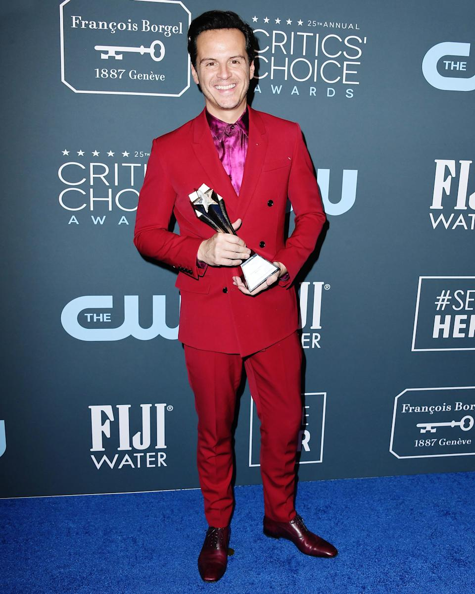 What's tall, handsome, and red all over? Andrew Scott in the #BigFitoftheDay.