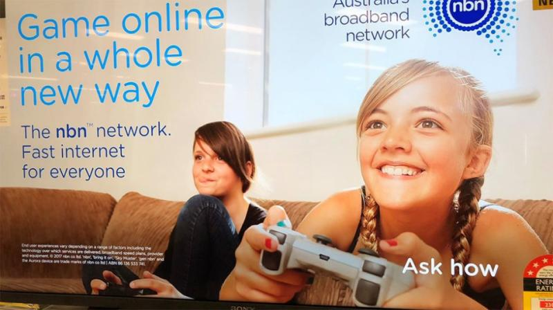 Can you figure out what is wrong with this NBN ad? Source: Twitter / Scott Rhodie