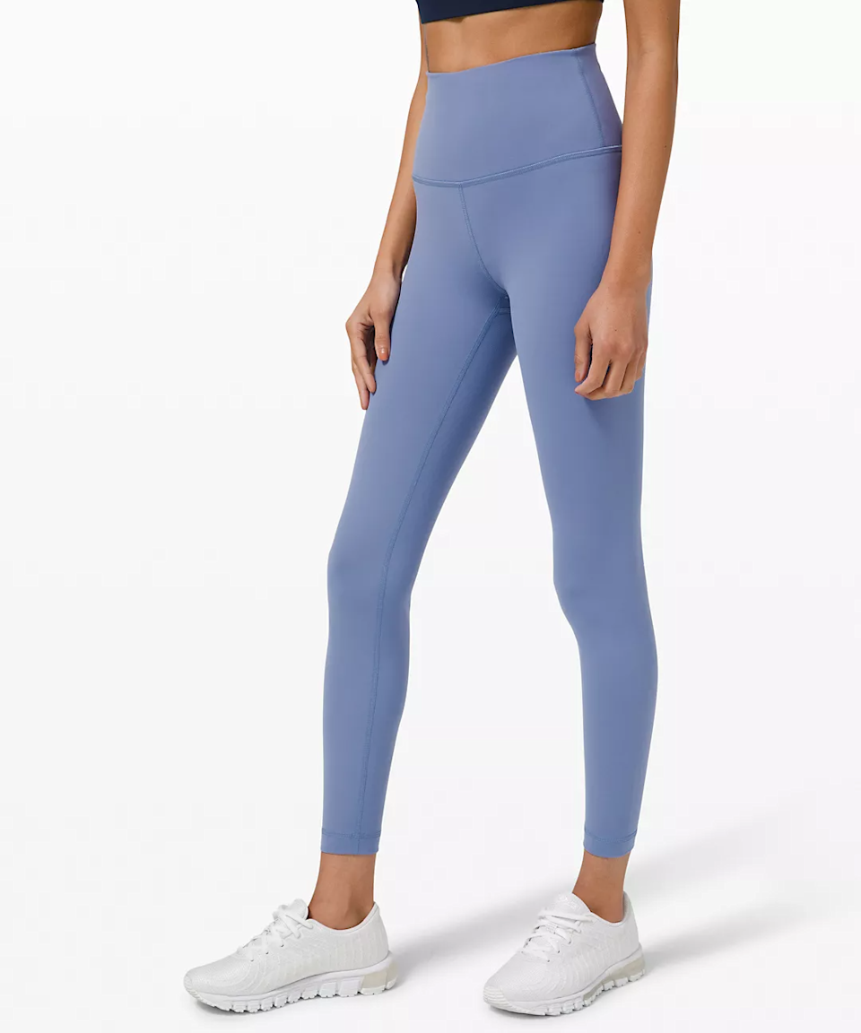 """<h2>Lululemon Wunder Train High-Rise Tight 25""""</h2><br>Unsurprisingly, out of <a href=""""https://refinery29.com/en-us/best-things-to-buy-at-lululemon"""" rel=""""nofollow noopener"""" target=""""_blank"""" data-ylk=""""slk:the internet's most loved Lululemon styles"""" class=""""link rapid-noclick-resp"""">the internet's most loved Lululemon styles</a>, this here highly reviewed pair of Wunder Train tights came out on April's top. Described as buttery soft yet durable and sweat-wicking, these leggings are ideal for both heavy-duty workouts and simply lounging around.<br><br>""""I don't even reach for my Aligns anymore unless all my Wunder Trains are in the wash. They dry SO fast, like crazy fast. The most important part they are soft and DON'T PILL. I'll take one of every color please,"""" one reviewer raved. <br><br><em>Shop <strong><a href=""""https://shop.lululemon.com/p/womens-leggings/Wunder-Train-HR-Tight-25/_/prod9750562"""" rel=""""nofollow noopener"""" target=""""_blank"""" data-ylk=""""slk:Lululemon"""" class=""""link rapid-noclick-resp"""">Lululemon</a> </strong></em><br><br><strong>Lululemon</strong> Wunder Train High-Rise Tight 25 Inch, $, available at <a href=""""https://go.skimresources.com/?id=30283X879131&url=https%3A%2F%2Fshop.lululemon.com%2Fp%2Fwomens-leggings%2FWunder-Train-HR-Tight-25%2F_%2Fprod9750562%3Fcolor%3D47824"""" rel=""""nofollow noopener"""" target=""""_blank"""" data-ylk=""""slk:Lululemon"""" class=""""link rapid-noclick-resp"""">Lululemon</a>"""