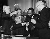 <p>Even if boomers were too young to remember President Lyndon B. Johnson signing the Act, which outlaws discrimination based on race, color, religion, sex or national origin, they've probably experienced the effects of the changes in policy it brought about, like the integration of schools. </p>
