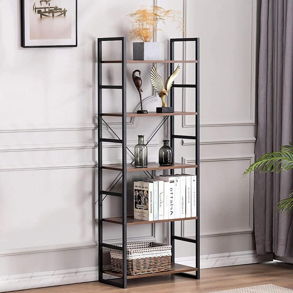 <p>Display all your scultpures and favorite reads on this <span>Youdenova 5-Tier Bookshelf</span> ($100).</p>
