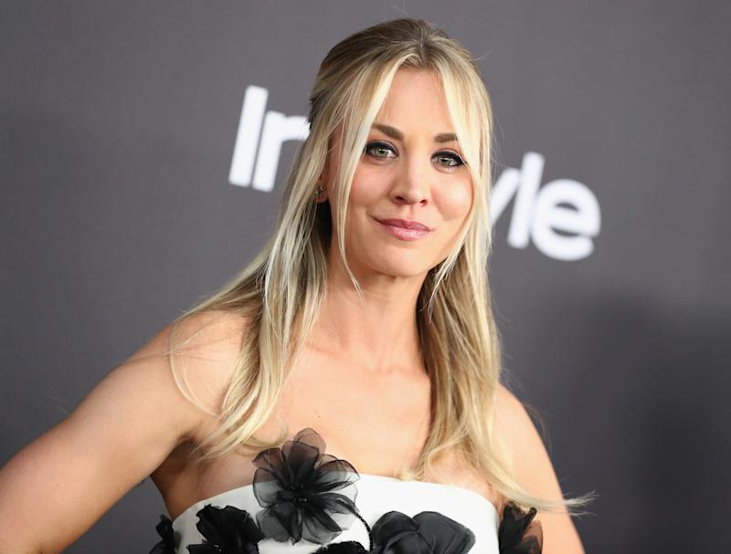 Kaley Cuoco's beauty go-to is a non-toxic makeup pad. (Photo: Getty Images)