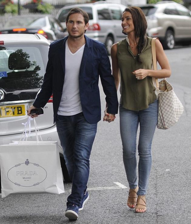 Frank Lampard and his fiancee, Christine Bleakley were spotted luxury shopping in London early this week.