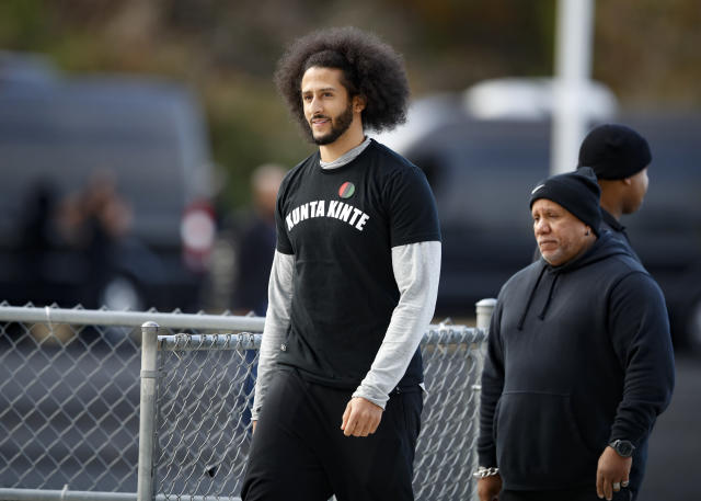 Colin Kaepernick declined to participate in a league-sanctioned workout in Atlanta on Saturday. (AP Photo/Todd Kirkland)