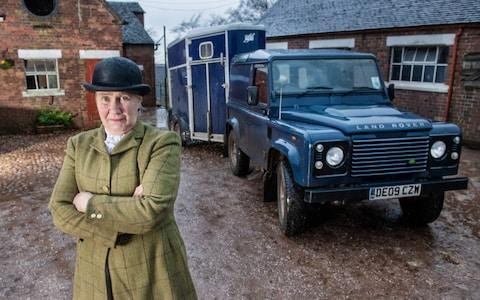 Mrs Wynne-Jones of the Wynnstay Hunt, which straddles the Cheshire and North Wales border - Credit: Paul Cooper/The Telegraph