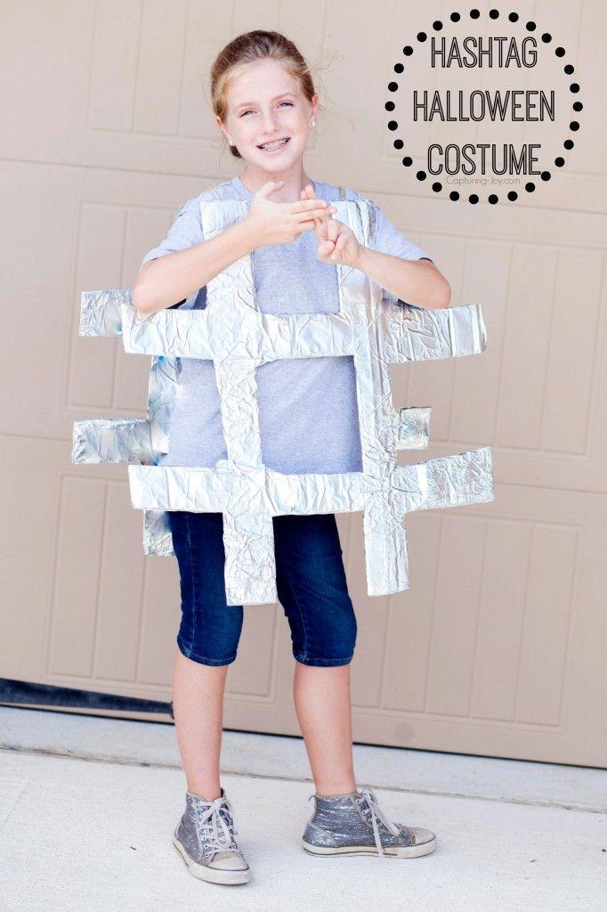 """<p>Hashtag Adorbs, this costume is so simple can be made at the <em>very</em> last minute.</p><p><strong>Get the tutorial at <a href=""""https://www.kristendukephotography.com/diy-hashtag-halloween-costume/"""" rel=""""nofollow noopener"""" target=""""_blank"""" data-ylk=""""slk:Capturing Joy with Kristen Duke"""" class=""""link rapid-noclick-resp"""">Capturing Joy with Kristen Duke</a>.</strong></p><p><a class=""""link rapid-noclick-resp"""" href=""""https://go.redirectingat.com?id=74968X1596630&url=https%3A%2F%2Fwww.walmart.com%2Fip%2FReynolds-Wrap-Aluminum-Foil-150-sq-ft-Box%2F21129702&sref=https%3A%2F%2Fwww.countryliving.com%2Fdiy-crafts%2Fg22118522%2Fteen-halloween-costumes%2F"""" rel=""""nofollow noopener"""" target=""""_blank"""" data-ylk=""""slk:SHOP ALUMINUM FOIL"""">SHOP ALUMINUM FOIL</a><br></p>"""