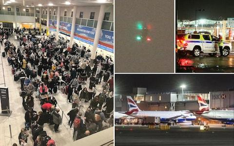 The drones caused chaos at Gatwick Airport