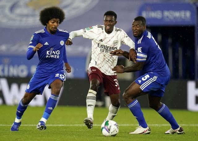 Wes Morgan, right, felt Leicester had played well