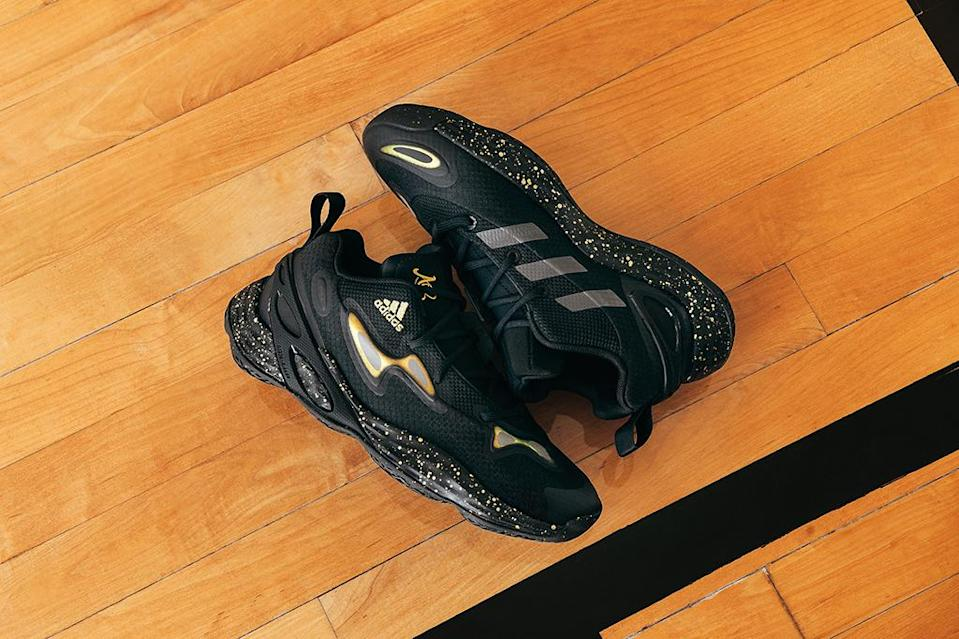 The predominantly black iteration of Candace Parker's Adidas Exhibit Ace Low. - Credit: Courtesy of Adidas