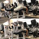 <ul> <li>Start by lying face down on the hamstring curl machine. The pad of the machine should be on the back of your legs at the bottom of your calves.</li> <li>Keeping your body flat on the bench, lightly grasp the handles near the front to stabilize your upper body. Bend your knees to bring your heels toward your glutes, stopping once your knees have reached a 90-degree angle. Hold for one second.</li> <li>Slowly lower down for three seconds.</li> <li>That's one rep.</li> <li>Do three sets of 12.</li> </ul>