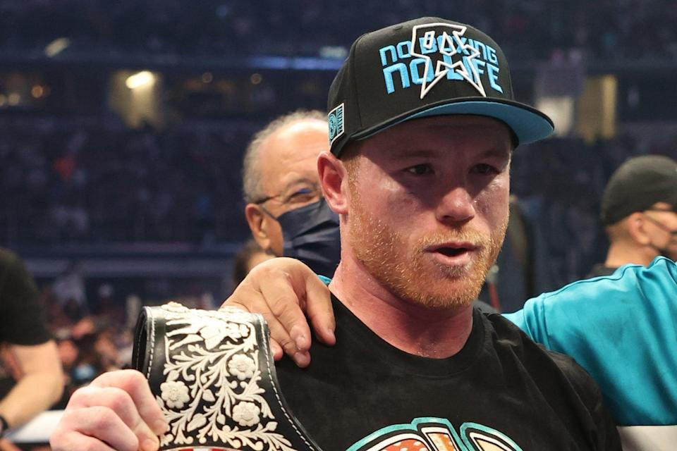 <p>Canelo Alvarez is just one belt away from super-middleweight supremacy</p> (Getty Images)