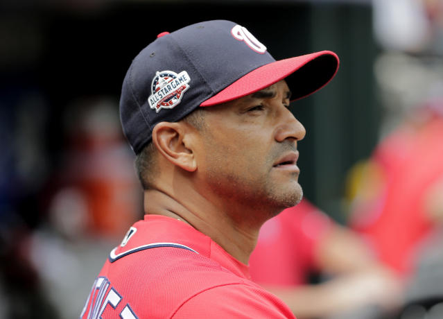 The easiest target for the mess in Washington is first-year manager Dave Martinez. (AP)