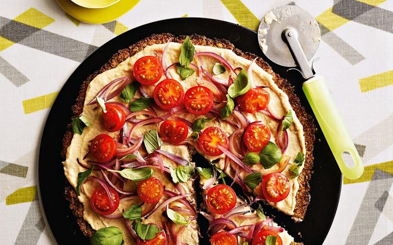 Low-carb cauliflower crust pizza  - Credit: ANDREW TWORT
