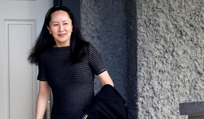 Huawei's financial chief, Meng Wanzhou, leaves her home in Vancouver, British Columbia, in May. The Canadian government asked McCallum to resign over his comments about her legal situation. Photo: Reuters