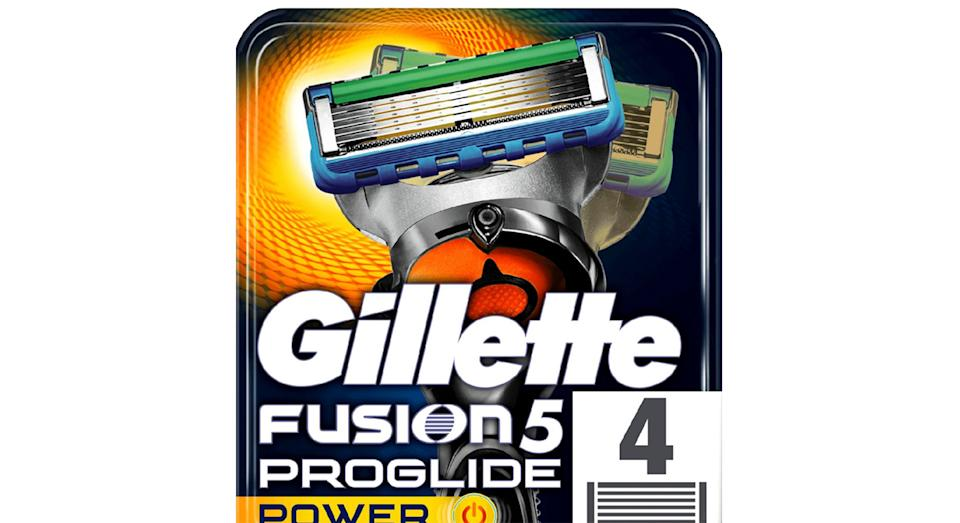 Gillette Fusion 5 ProGlide Power Razors For Men 4 Razor Blades Refills