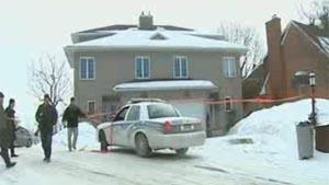 Gatineau police were still working on their investigation at the home of Senator Patrick Brazeau early Thursday afternoon.