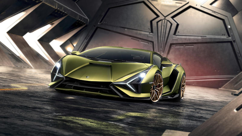 The Lamborghini Sián hybrid supercar