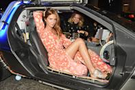 LONDON, ENGLAND - SEPTEMBER 19: Millie Mackintosh (L) and Poppy Jamie attend Nicholas Kirkwood 10 year collection Launch and Party during London Fashion Week on September 19, 2015 in London, England. (Photo by David M. Benett/Dave Benett / Getty Images for Nicholas Kirkwood)