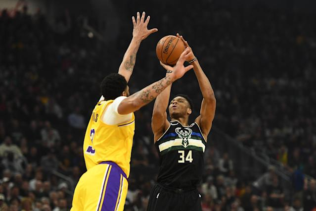 In a heavyweight NBA matchup of the NBA's best, the Bucks were clearly the better team on Thursday. (Stacy Revere/Getty Images)