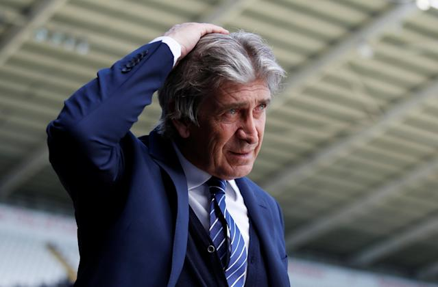 "FILE PHOTO: Soccer Football - Swansea City v Manchester City - Barclays Premier League - Liberty Stadium, Swansea, Britain - May 15, 2016 Manchester City manager Manuel Pellegrini before the game Action Images via Reuters/Peter Cziborra/File Photo EDITORIAL USE ONLY. No use with unauthorized audio, video, data, fixture lists, club/league logos or ""live"" services. Online in-match use limited to 45 images, no video emulation. No use in betting, games or single club/league/player publications. Please contact your account representative for further details."