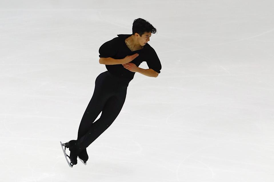 American Nathan Chen became the first skater to land five quad jumps in a single program. (AP)