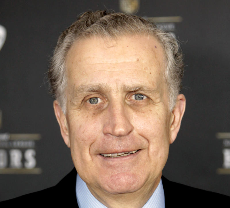 FILE - This Feb. 4, 2012 file photo shows former NFL Commissioner Paul Tagliabue in Indianapolis. Tagliabue and lawyers for the league and the players' union have arrived  in Washington, Thursday for a hearing in the Saints bounties case. Tagliabue is overseeing the latest round of player appeals in Washington.  (AP Photo/David Stluka, File)