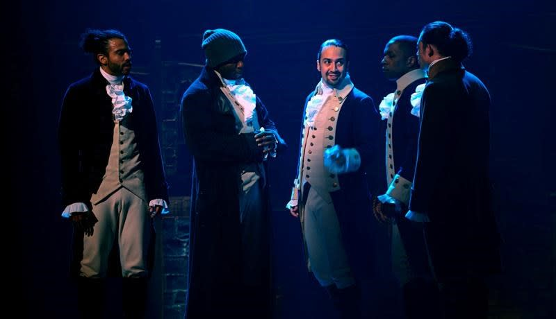 Review: Revolutionary 'Hamilton' arrives at an uneasy time