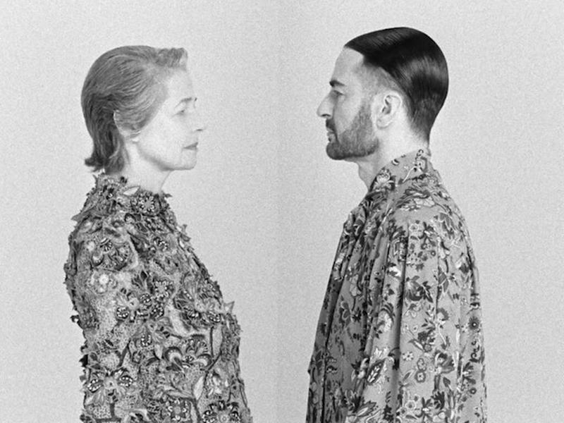 Marc Jacobs and Charlotte Rampling fronting Givenchy campaign